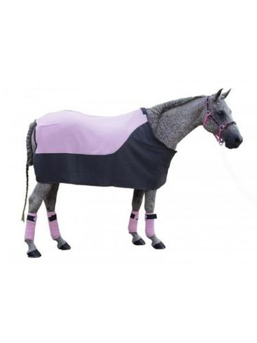 German Riding Fleecedecke grau rosa